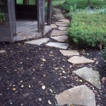 mulch with flagstone